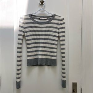Bluenotes ribbed long sleeve sweater size small